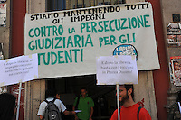 13 Mag 2013, Milano: protesta di studenti all'Universita' Statale.May 13 2013, Milan: protest of young students at the State University .