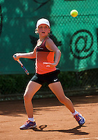 Netherlands, Dordrecht, August 03, 2015, Tennis,  National Junior Championships, NJK, TV Dash 35, Isis van den Broek<br /> Photo: Tennisimages/Henk Koster