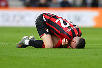 Harry Wilson of Bournemouth grasps his shoulder after taking a tumble during AFC Bournemouth vs Watford, Premier League Football at the Vitality Stadium on 12th January 2020