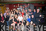 CHEERS: Noel Lenihan Abbeydorney who celebrated his 60th birthday in The Abbey Tavern, Ardfert on Saturday night with his family and friends (vincent is seated 3rd from left)