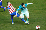 Atletico de Madrid's Gabi Fernandez (l) and FC Barcelona's Leo Messi during Spanish Kings Cup semifinal 1st leg match. February 01,2017. (ALTERPHOTOS/Acero)