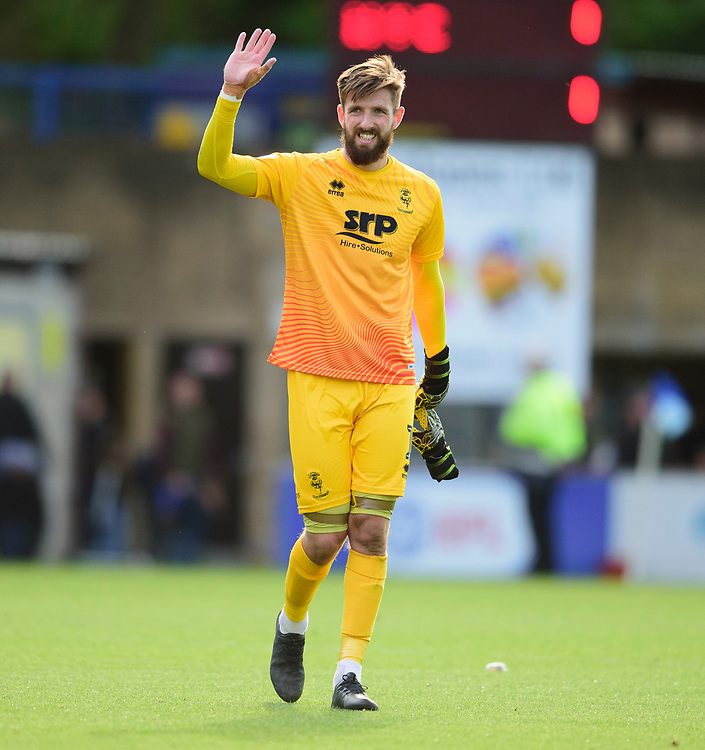 Lincoln City's Josh Vickers applauds the fans at the final whistle<br /> <br /> Photographer Andrew Vaughan/CameraSport<br /> <br /> The EFL Sky Bet League One - Wycombe Wanderers v Lincoln City - Saturday 7th September 2019 - Adams Park - Wycombe<br /> <br /> World Copyright © 2019 CameraSport. All rights reserved. 43 Linden Ave. Countesthorpe. Leicester. England. LE8 5PG - Tel: +44 (0) 116 277 4147 - admin@camerasport.com - www.camerasport.com