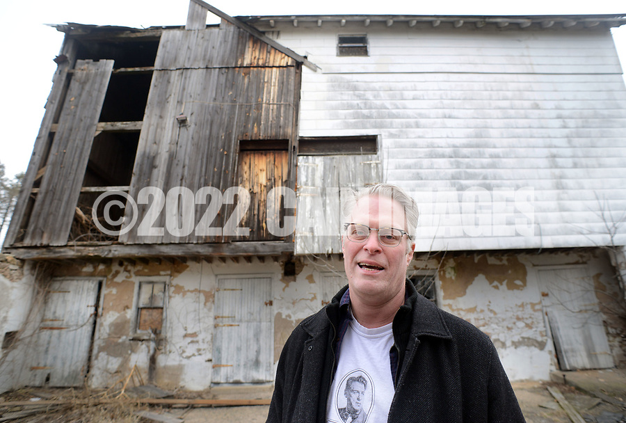 Will Hammerstein discusses the project as he walks around the property Friday March 24, 2017 at Highland Farm in Doylestown, Pennsylvania. Hammerstein is in the process of raising money to restore the old brand create a Hammerstein museum dedicated to his grandfather, Oscar Hammerstein, writer of the broadway musicals, Sound of Music, King and I, Oklahoma and Carousel to name a few. (WILLIAM THOMAS CAIN / For The Philadelphia Inquirer)
