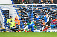Alex Lacey of Gillingham right scores the second goal and celebrates during Portsmouth vs Gillingham, Sky Bet EFL League 1 Football at Fratton Park on 6th October 2018