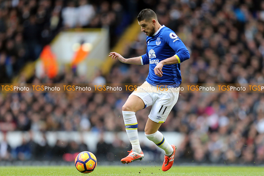 Kevin Mirallas of Everton during Tottenham Hotspur vs Everton, Premier League Football at White Hart Lane on 5th March 2017