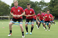 Miami, FL. - May 19, 2016: The USMNT train in preparation for the 2016 Copa America Centenary at Barry University.