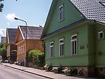 Litwa, Troki 08.07.2014. Tradycyjne domy karaimskie w Trokach.