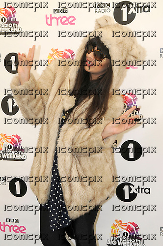 Jameela Jamil - photocall backstage on Day 2 of the BBC Radio 1 Big Weekend held in Ebrington Square Londonderry Northern Ireland UK - 25 May 2013.  Photo credit: George Chin/IconicPix