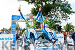 Local navigator, Killarney's, Paul Nagle, celebates his first win on  his home International rally, after guiding his driver Craig Breen from Waterford, in a Ford Fiesta R5 to their 4th win in the Irish International tarmac Championship, 2019, outside the Gleneagle Hotel, Killarney last Sunday.