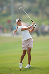 TAOYUAN, TAIWAN - OCTOBER 27:  Azahara Munoz of Spain plays her second shot on the 1st hole during the day three of the Sunrise LPGA Taiwan Championship at the Sunrise Golf Course on October 27, 2012 in Taoyuan, Taiwan.  Photo by Victor Fraile / The Power of Sport Images