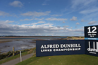 View of the 12th tee during the practice round before the 2014 Alfred Dunhill Links Championship, The Old Course, St Andrews, Fife, Scotland. Picture:  David Lloyd / www.golffile.ie