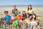 Shane O'Donovan, Aine, Niamh, Eoin, Abeyta, Fionn Magee Carmody, Ellen Abeyta, Priya O'Donovan Fiona Magee and Roisin Abeyta from Kilflynn and Ballyheigue enjoying Ballyheigue Beach in the Sunshine.