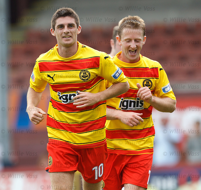 Kris Doolan celebrates his second goal for Partick Thistle