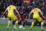 23.04.2016 Barcelona. Liga BBVA day 35. Picture show Neymar and Mascarell in action during game between FC Barcelona against Real Sporting at Camp nou