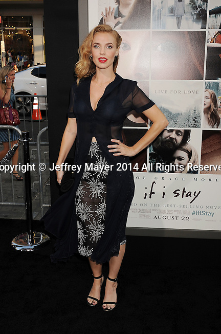 HOLLYWOOD, CA- AUGUST 20: Actress Kelli Garner arrives at the Los Angeles premiere of 'If I Stay' at TCL Chinese Theatre on August 20, 2014 in Hollywood, California.