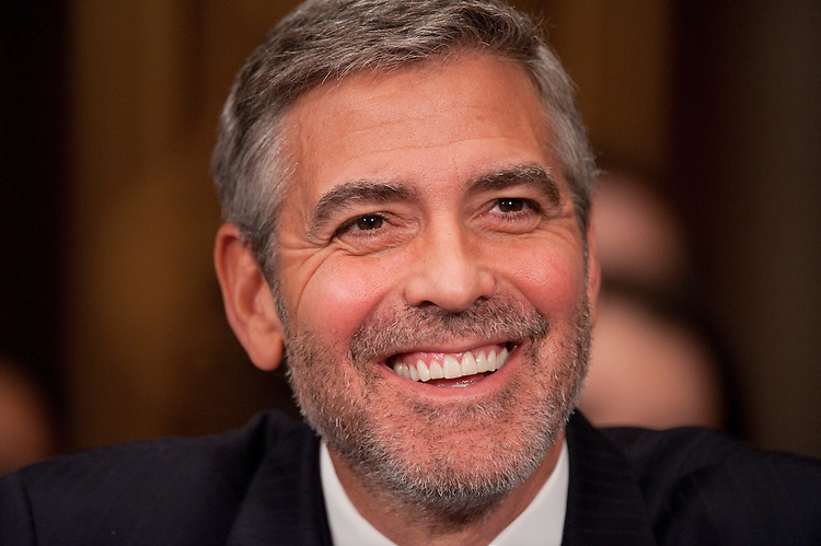 "UNITED STATES - MARCH 14:  George Clooney, actor and co-founder of the Satellite Sentinel Project, testifies before a Senate Foreign Relations Committee hearing in Dirksen entitled ""Sudan and South Sudan: Independence and Insecurity."" (Photo By Tom Williams/CQ Roll Call)"