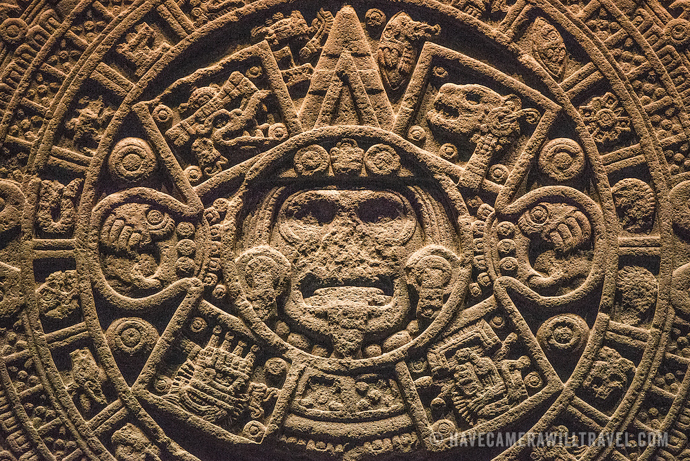 Aztec Calendar Stone.Stone Of The Sun Aztec Calendar Stone At The National Museum Of