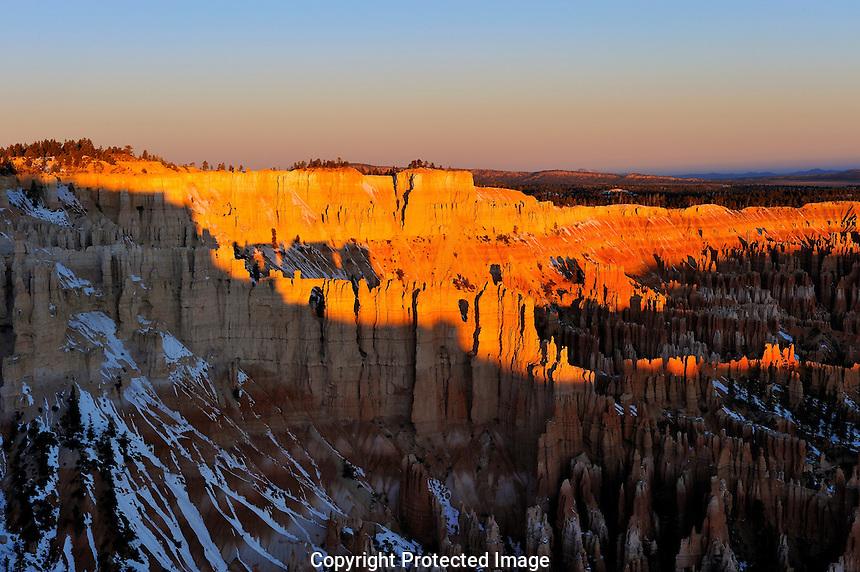 "Sunrise creates an ""Arch Shadow"" at Utah's Bryce Canyon"