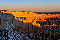 "Sunrise creates an ""Arch Shadow"" at Utah's Bryce Canyon"