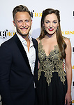 Nathan Johnson and Laura Osnes attends the Dramatists Guild Foundation toast to Stephen Schwartz with a 70th Birthday Celebration Concert at The Hudson Theatre on April 23, 2018 in New York City.