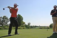 Alazander Noren (SWE) and Graeme McDowell (NIR) on the third day of the DUBAI WORLD CHAMPIONSHIP presented by DP World, Jumeirah Golf Estates, Dubai, United Arab Emirates.Picture Fran Caffrey www.golffile.ie