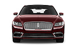 Car photography straight front view of a 2017 Lincoln Continental Reserve 4 Door Sedan Front View