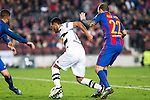 VfL Borussia Monchengladbach's Raffael, FC Barcelona's Aleix Vidal during Champions League match between Futbol Club Barcelona and VfL Borussia Mönchengladbach  at Camp Nou Stadium in Barcelona , Spain. December 06, 2016. (ALTERPHOTOS/Rodrigo Jimenez)