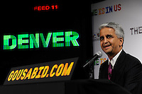 U.S. Soccer President and USA Bid Committee Chairman Sunil Gulati announces Denver as one of the 18 cities to be submitted to FIFA as part of the bid to host the 2018 or 2022 FIFA World Cup at the ESPN Zone in Times Square, NYC, NY, on January 12, 2010.