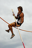 Auckland's Brent Newdick competes in the men's pole vault during the National athletics championships at Newtown Park, Wellington, New Zealand on Friday, 27 March 2009. Photo: Dave Lintott / lintottphoto.co.nz