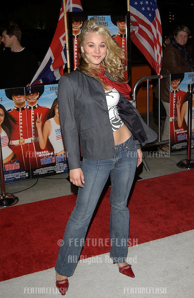 Actress KALEY CUOCO at the Los Angeles premiere of What A Girl Wants..March 27, 2003