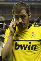 2.05.2012. Bilbao, Spain. La Liga. Real Madrid beat Athelicto de Bilbao 0-3 at San Mames stadium  and   is new La Liga championship. Picture show Iker Casillas