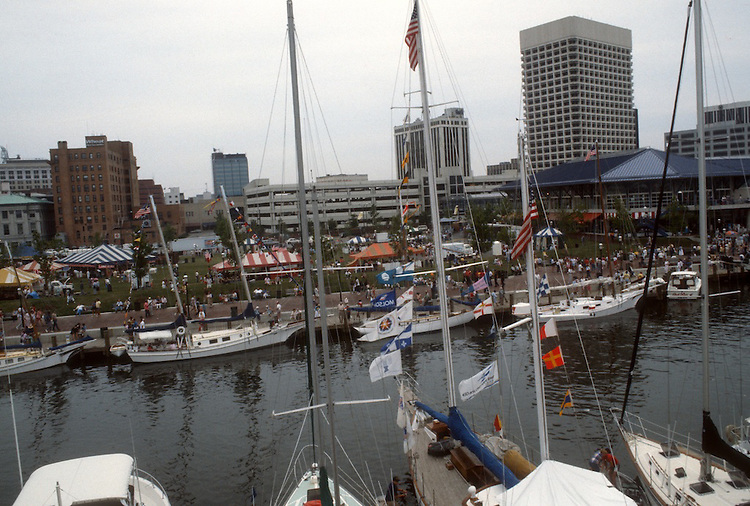 1985 June..Redevelopment.Downtown South (R-9)..HARBORFEST.WATERSIDE...NEG#.NRHA#..