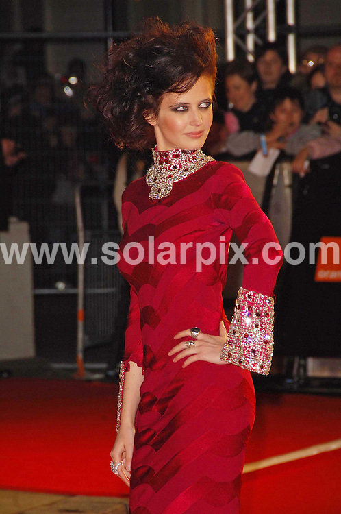 **ALL ROUND PICTURES FROM SOLARPIX.COM**.**WORLDWIDE SYNDICATION RIGHTS**. The British Academy Film Awards(BAFTA) at the Royal Opera House in London last night..This Pic:Eva Green..JOB REF:3344 MSR    DATE: 11.2.07.**MUST CREDIT SOLARPIX.COM OR DOUBLE FEE WILL BE CHARGED**