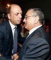 NAPOLI CONVEGNO PDL.NELLA FOTO  ANGELINO ALFANOLUIGI CESARO PRESIDENTE PROVINCIA NAPOLI.FOTO CIRO DE LUCA.