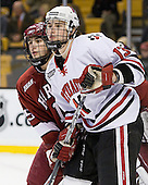 Doug Rogers (Harvard - 15), Randy Guzior (NU - 13) - The Harvard University Crimson defeated the Northeastern University Huskies 3-1 on Monday, February 4, 2008, in the opening game of the 2008 Beanpot at TD Banknorth Garden in Boston, Massachusetts.