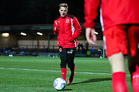 George Glendon warms up before the Sky Bet League 1 match between Rochdale and Fleetwood Town at Spotland Stadium, Rochdale, England on 20 March 2018. Photo by Thomas Gadd.
