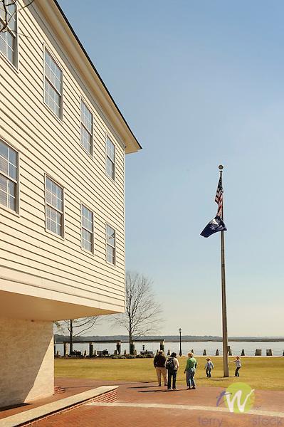 Restored waterfront park, Beaufort, SC.