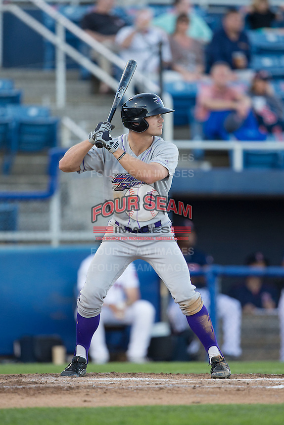Adam Engel (7) of the Winston-Salem Dash at bat against the Salem Red Sox at LewisGale Field at Salem Memorial Ballpark on May 13, 2015 in Salem, Virginia.  The Red Sox defeated the Dash 8-2.  (Brian Westerholt/Four Seam Images)