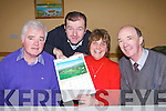 COMMUNITY ALERT: Memeber's of Ballymacelligott community alert group launching their 2013 calendar at the St Brendan's community centre, Ballymac on Sunday l-r: Pat Dowling, Fionnán Fitzgerald, Florence Ahern and Denis Fitzgerald..