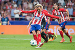 Atletico de Madrid's Antoine Griezmann during UEFA Champions League match between Atletico de Madrid and Chelsea at Wanda Metropolitano in Madrid, Spain September 27, 2017. (ALTERPHOTOS/Borja B.Hojas)