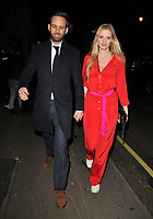 LONDON, ENGLAND - FEBRUARY 12: David Grievson and Lara Stone at the Gymkhana restaurant re- launch party, Gymkhana, Albemarle Street, on Wednesday 12 February 2020 in London, England, UK. <br /> CAP/CAN<br /> ©CAN/Capital Pictures