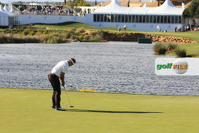 Joost Luiten (NED) putts on the 14th green during Thursday's Round 1 of the Portugal Masters at the Oceanico Victoria Golf Course, Vilamoura, Portugal 10th October 2012 (Photo Eoin Clarke/www.golffile.ie)