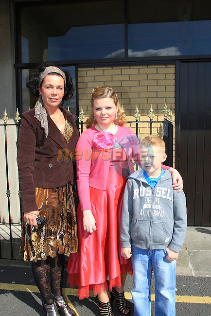 Kotryna, Knystautaite and Gustas Egle.at Confirmation in the Holly Family Church..Picture  www.newsfile.ie..