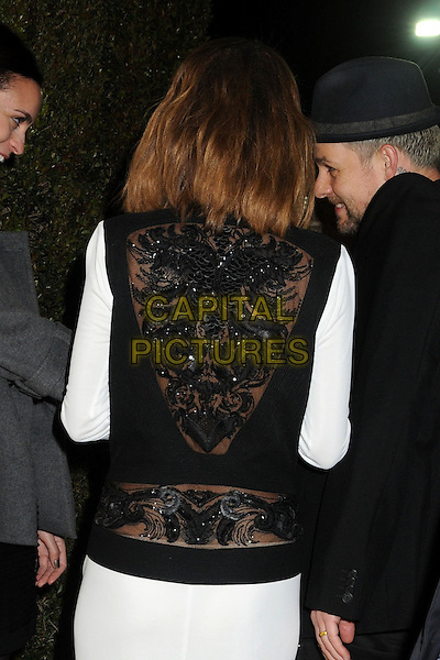 Nicole Richie Madden.21st Annual Elton John Academy Awards Viewing Party held at West Hollywood Park, West Hollywood, California, USA..February 24th, 2013.oscars half length dress black white beads beaded back behind rear .CAP/ADM/BP.©Byron Purvis/AdMedia/Capital Pictures.