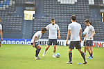 Players of Buriram United (THA) in action during a training session on 22 February 2016, one day before the 2016 AFC Champions League Group F match between Buriram United (THA) vs FC Seoul (KOR) at the New I-Mobile Stadium, Buriram, Thailand.