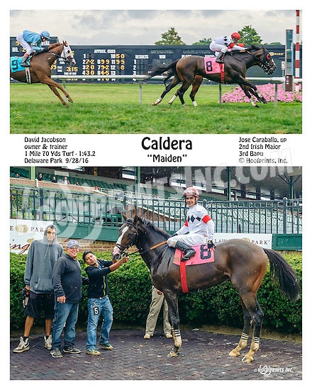 Caldera winning at Delaware Park on 9/28/16
