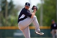 New York Yankees Preston Jamison (18) during a minor league Spring Training game against the Pittsburgh Pirates on March 26, 2016 at Pirate City in Bradenton, Florida.  (Mike Janes/Four Seam Images)