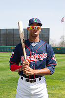 Cedar Rapids Kernels outfielder Byron Buxton #7 poses for a photo prior to a game against the Lansing Lugnuts at Veterans Memorial Stadium on April 30, 2013 in Cedar Rapids, Iowa. (Brace Hemmelgarn/Four Seam Images)