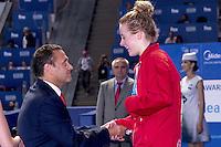(L to R)  Tamas GYARFAS FINA Vice President; O'CONNOR Siobhan Marie GBR Bronze 200 I.M. women<br /> Swimming Nuoto Kazan Arena<br /> Day11 03/08/2015 Evening Finals<br /> XVI FINA World Championships Aquatics Swimming<br /> Kazan Tatarstan RUS July 24 - Aug. 9 2015 <br /> Photo G.Scala/Deepbluemedia/Insidefoto