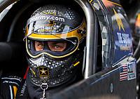 Feb 2, 2017; Chandler, AZ, USA; NHRA top fuel driver Tony Schumacher during Nitro Spring Training preseason testing at Wild Horse Pass Motorsports Park. Mandatory Credit: Mark J. Rebilas-USA TODAY Sports